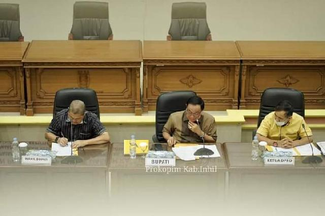 Bupati Wardan Hadiri Rapat Kerja Banggar Bahas Kebijakan Penganggaran Penanganan Covid-19