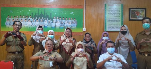 DPAD Inhil dan Arsiparis Madia Provinsi Riau Berikan Pembinaan ke BKPSDM