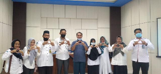 DPAD dan Arsipparis Madya Provinsi Riau Sosialisasi Audit Arsip di Disdik Inhil