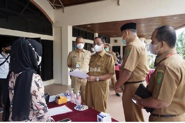 Pemerintah Daerah Inhil Tinjau Pelaksanaan Uji Kompetensi Calon Kepala Desa
