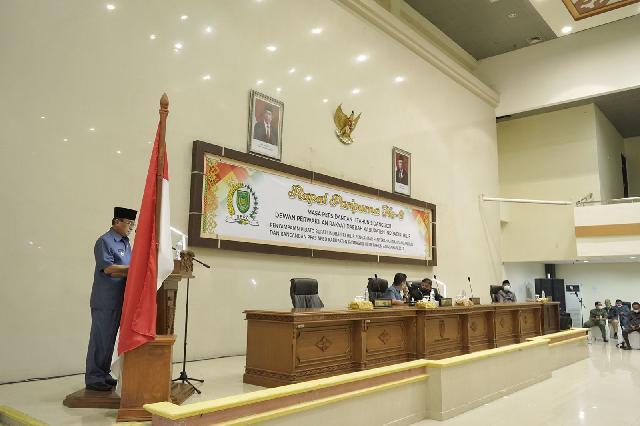 Wakil Ketua DPRD Inhil Pimpin Rapat Paripurna ke 9 Terkait Penyampaian Pidato Bupati