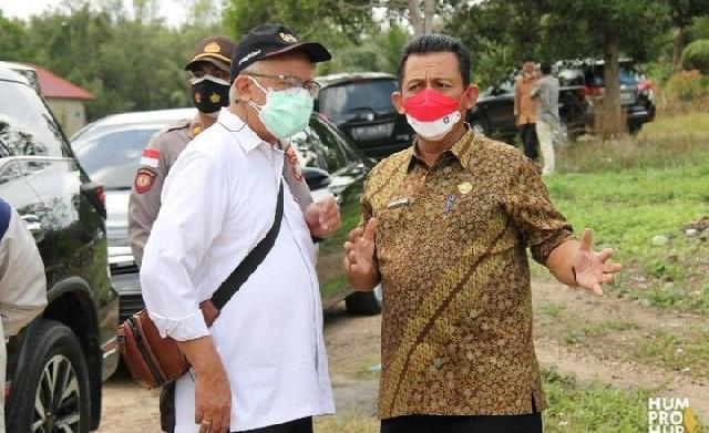 Gubernur Kepri H. Ansar Bersama Deputi Bidang Koordinasi PMK Tinjau Bansos di Kabupaten Bintan