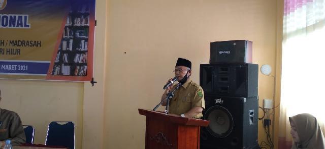 Kadis DPAD Buka Diklat Nasional Tenaga Perpustakaan Sekolah se- Kabupatan Inhil
